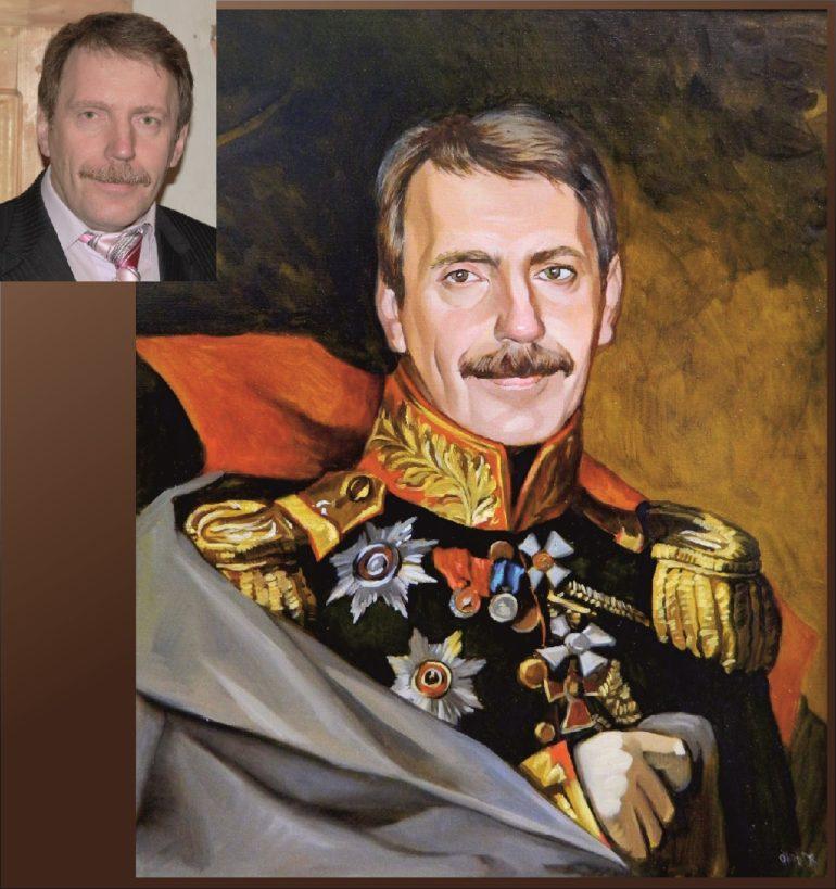 Настоящий портрет маслом на заказ в Барнауле…