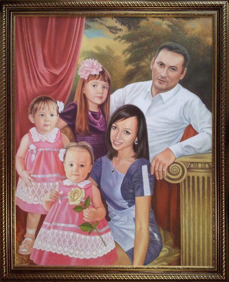 Семейный портрет маслом в Барнауле — правильная традиция…