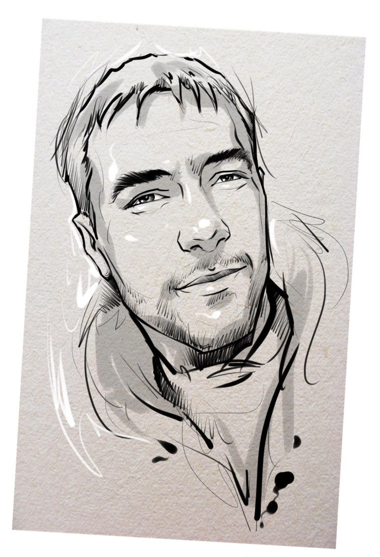 Портрет карандашом любимому мужу в Барнауле…