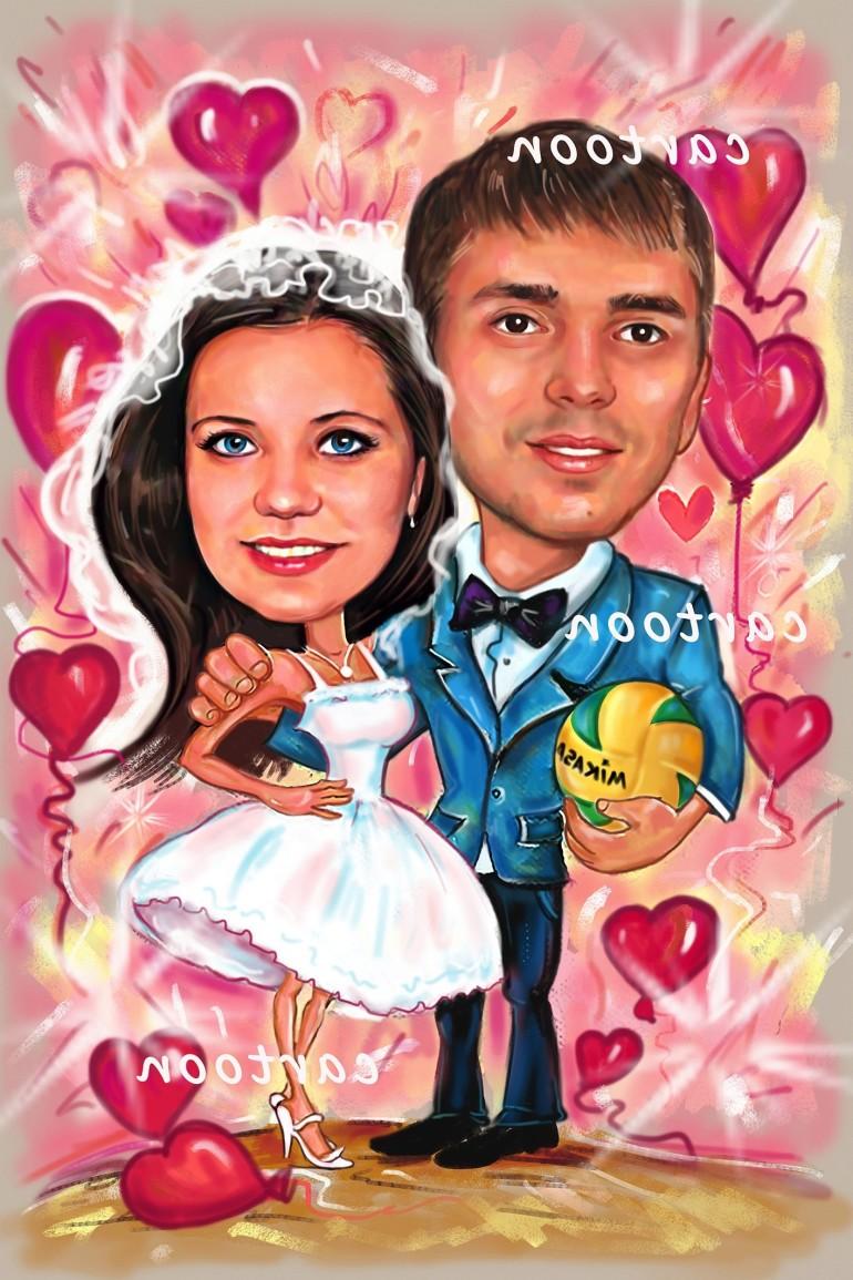 Свадебный шарж с оригинальным сюжетом в Барнауле!