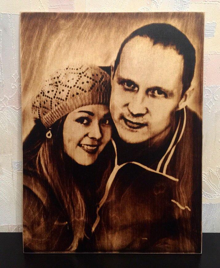выжигание портретов по дереву на заказ в Барнауле