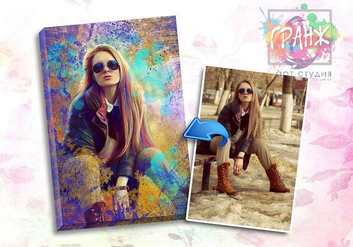 Портрет по фото на заказ в честь 8 марта в Барнауле
