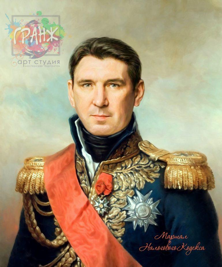 Портрет по фото на холсте в подарок мужчине на 23 февраля Барнаул