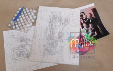 Картина по номерам по фото, портреты на холсте и дереве в Барнауле